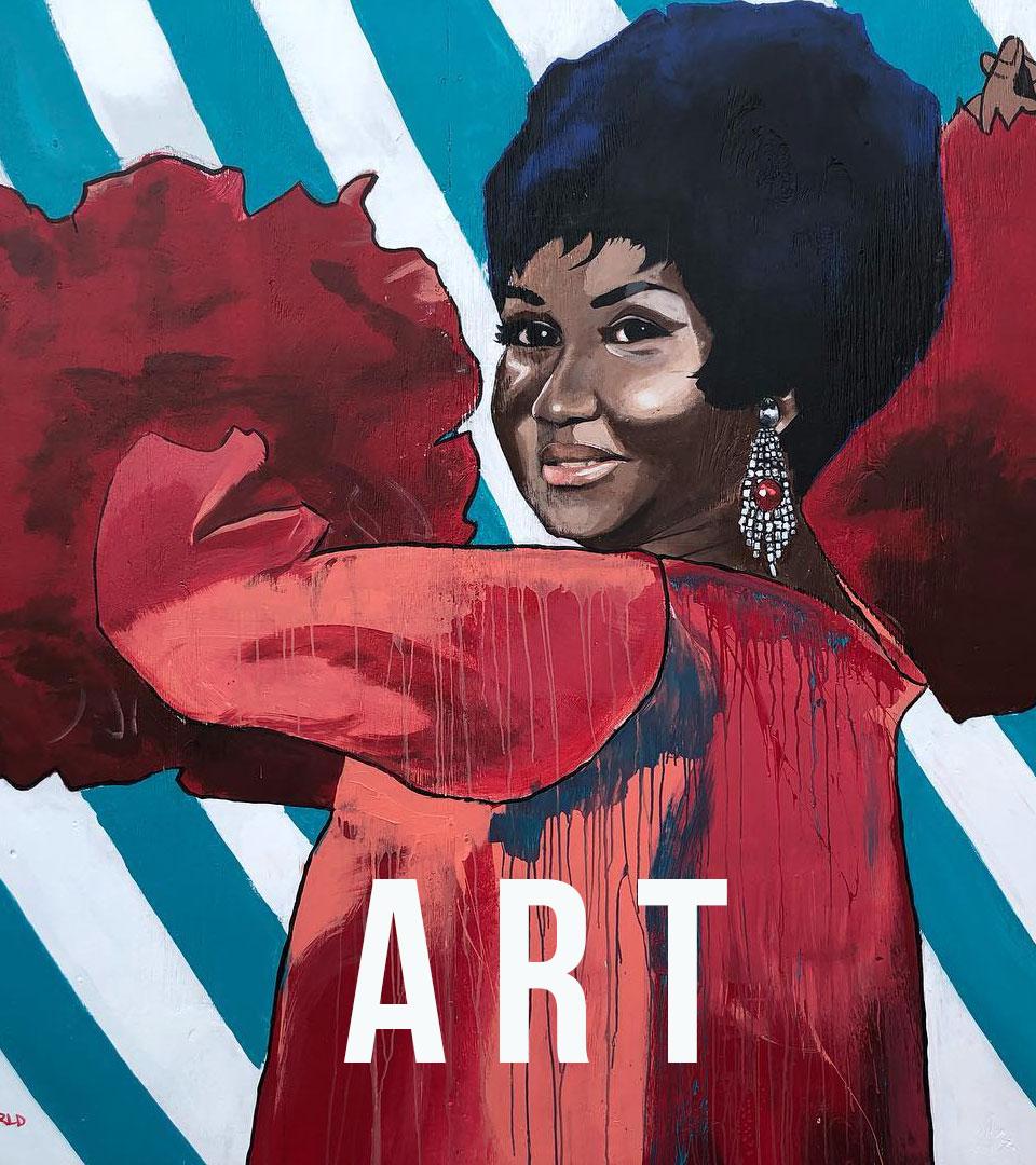 Lindsay McGlynn Aretha Franklin Mural